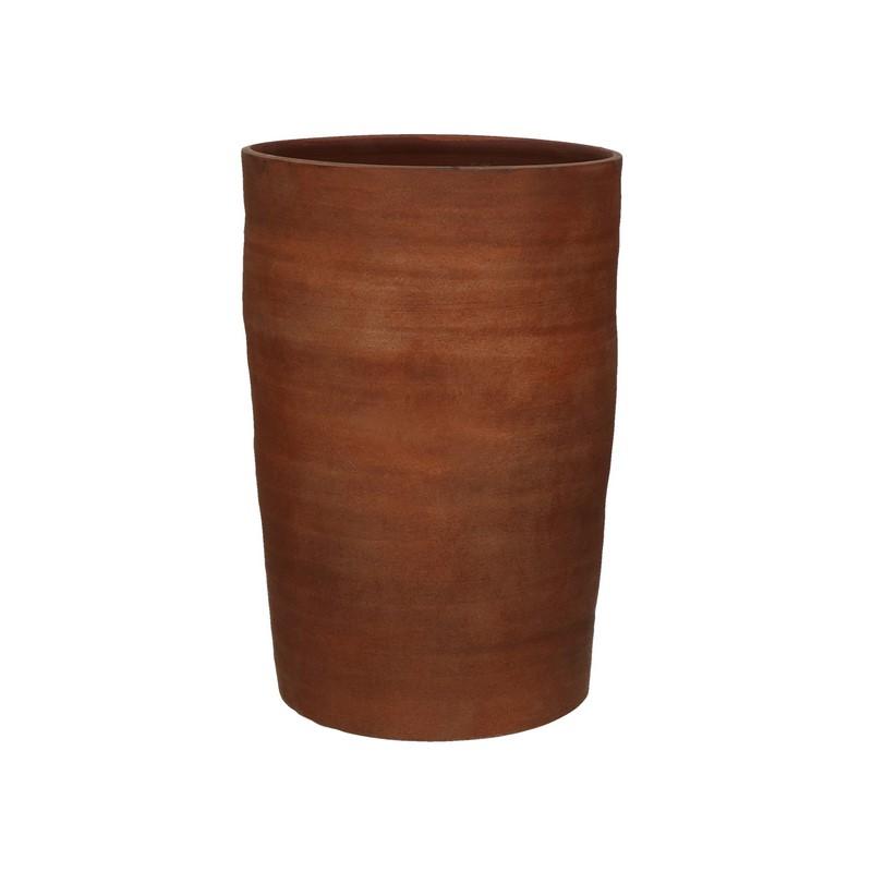 Vase Oued faïence rouille 40 cm