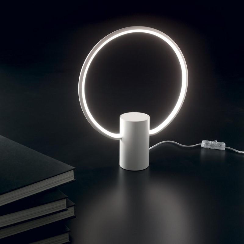 Lampe à poser LED blanche Cerchio