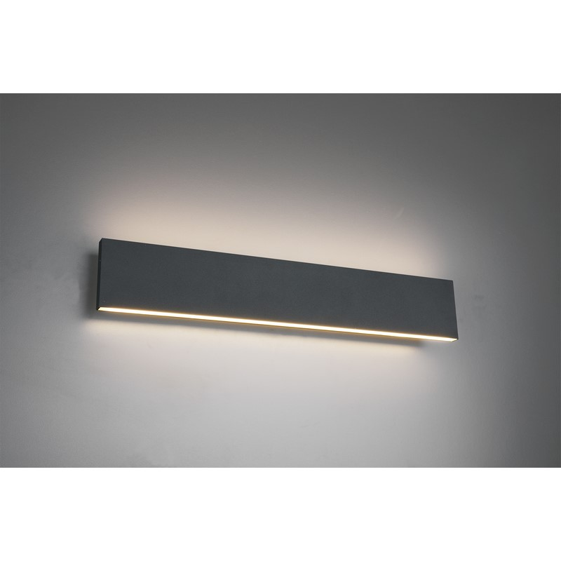 Applique anthracite LED variable Concha