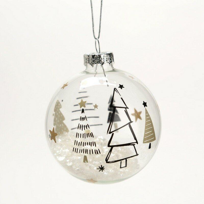 Boule de Noël sapin en verre