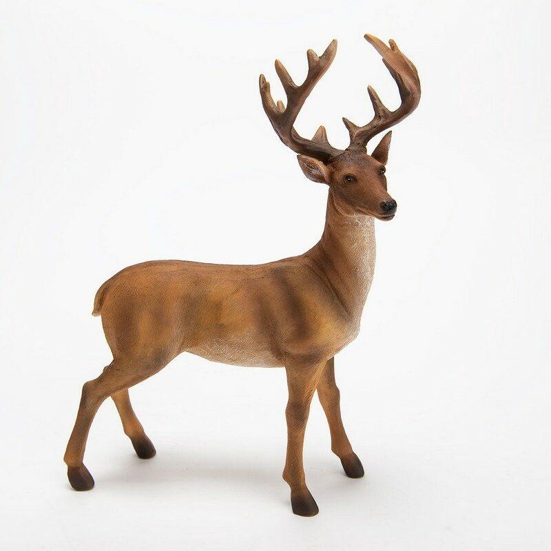 Cerf naturel 30 cm