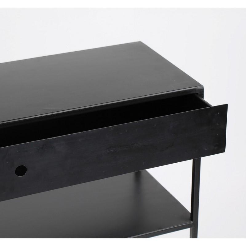 Console métal noire Zen