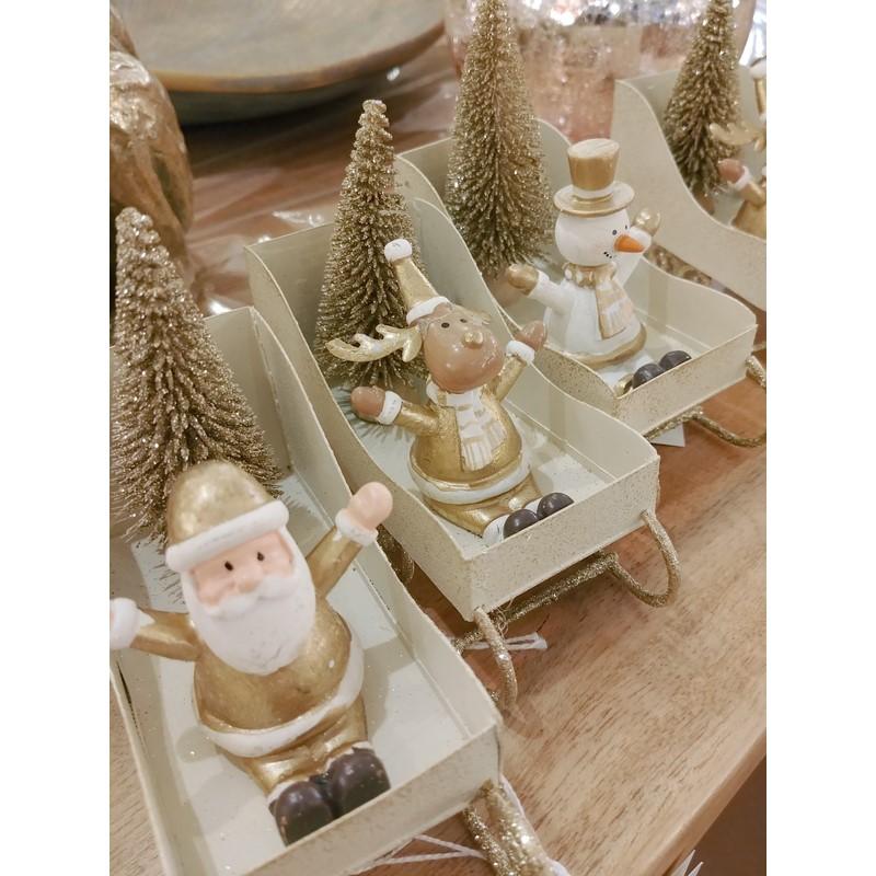 Traineau de Noël or au choix