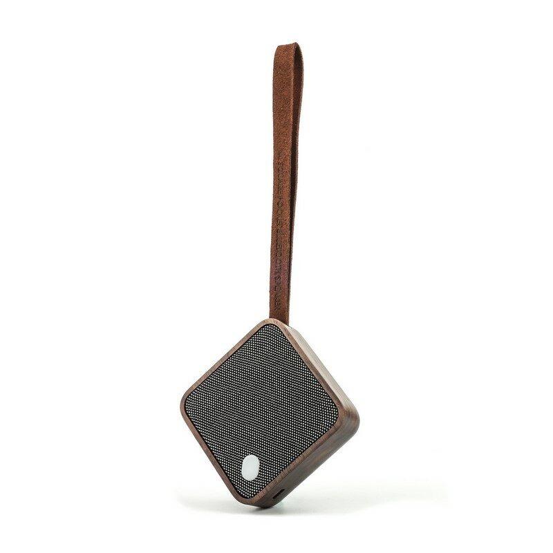Enceinte carrée Mi square bluetooth en bois noyer