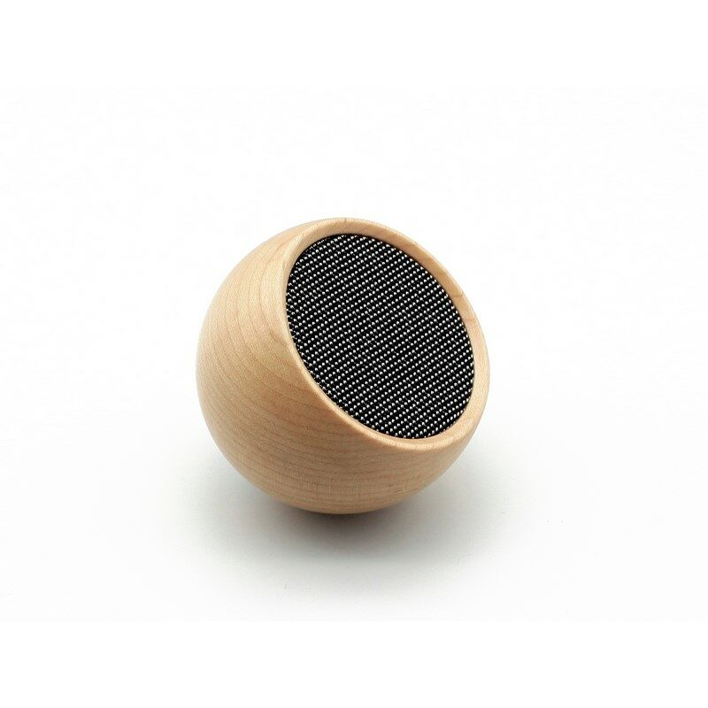 Enceinte selfie Bluetooth sans fil en bois érable