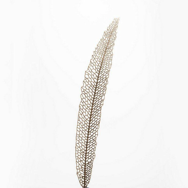 Fleur artificielle feuille Elegancia chanpagne