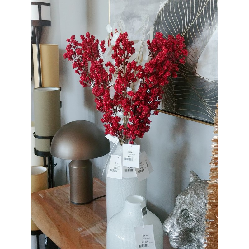 Fleur artificielle branche baies Lonicera 72 cm