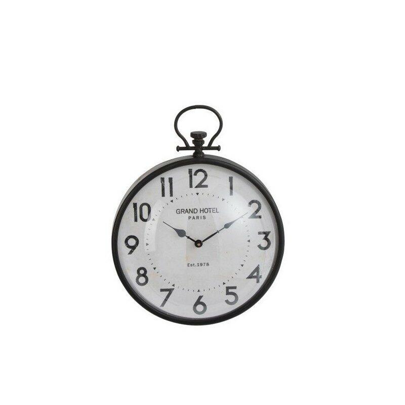 Horloge Boule ronde noire