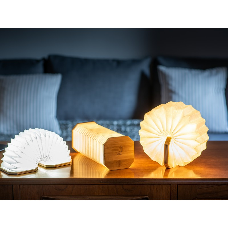 Lampe Smart Accordéon LED bambou