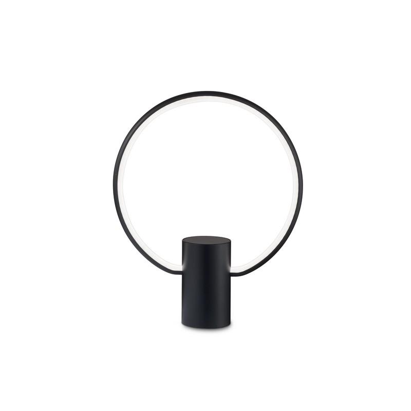 Lampe à poser LED noire Cerchio