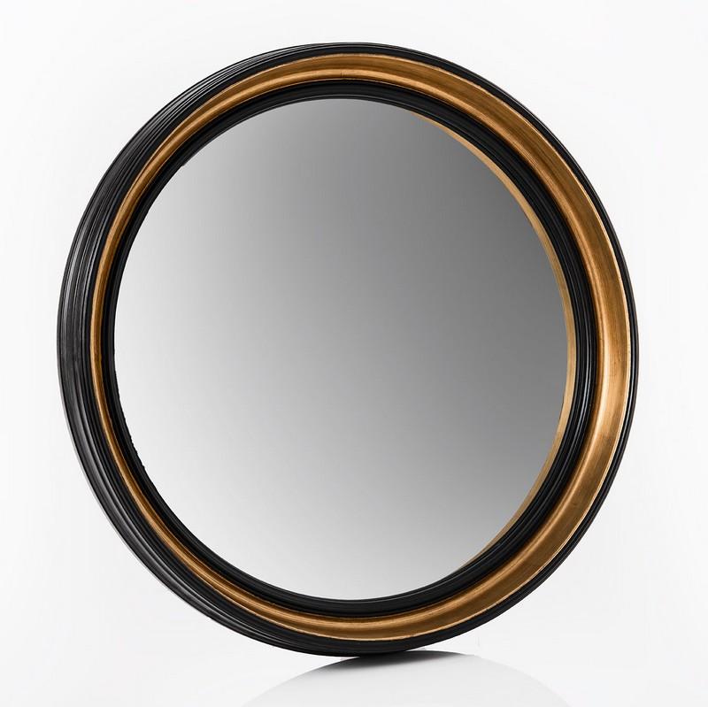 Miroir rond noir et doré Sorcière grand modèle