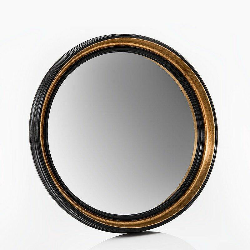 Miroir rond noir et doré Sorcière moyen modèle
