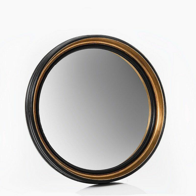Miroir rond noir et doré Sorcière petit modèle