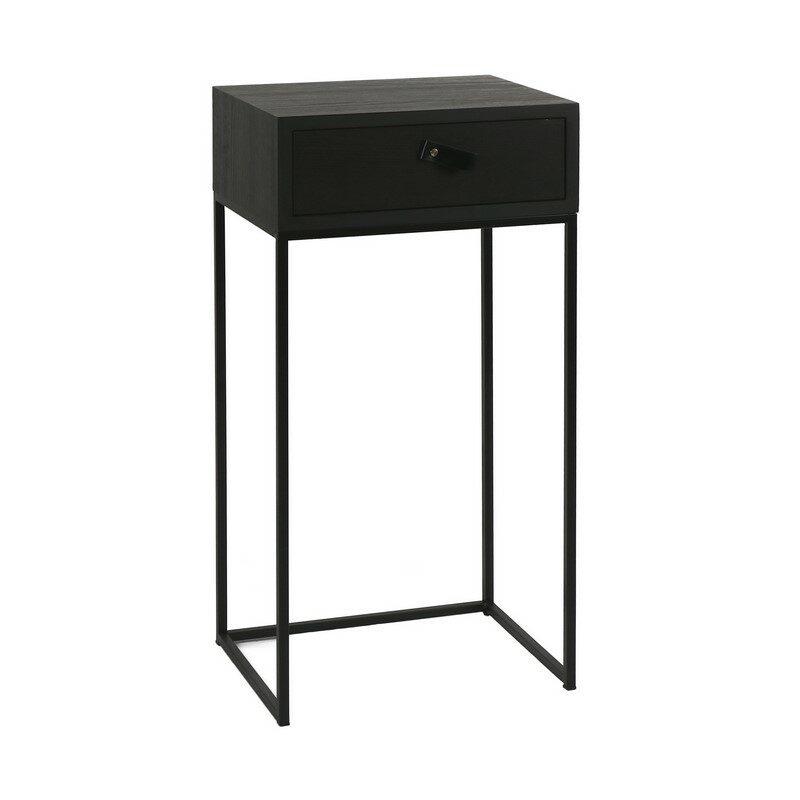 Petite console avec tiroir noir Tokio