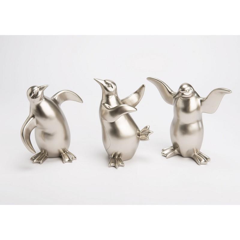 Pingouin rigolo argent – au choix