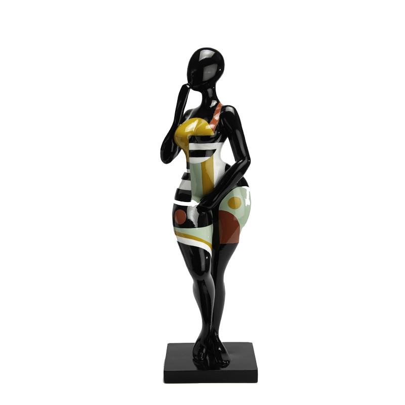 "Statue femme ""oops dit rien"""