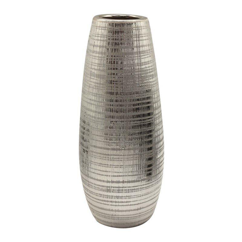 Vase Mellow céramique argent 30 cm