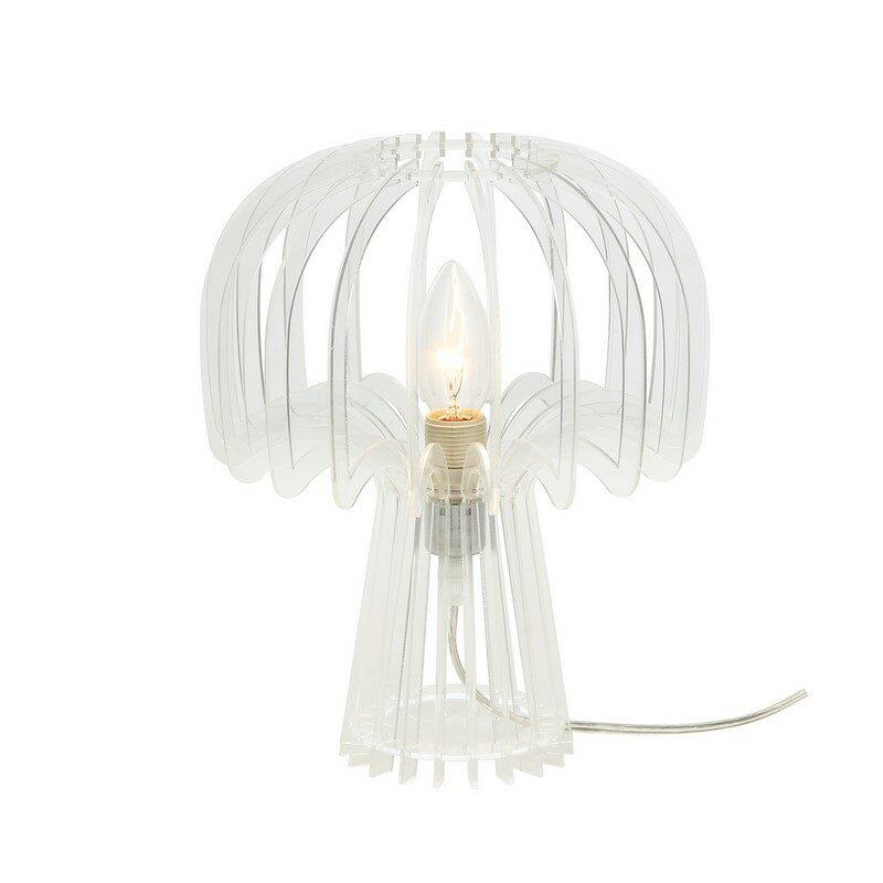 Lampe à poser en acrylique transparent
