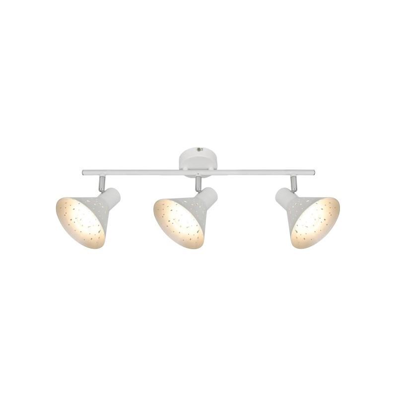 Réglette orientable blanche et argentée 3 lumières Nino