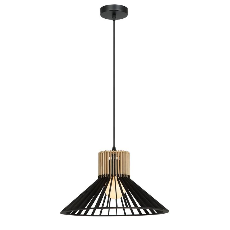 Suspension en bois noir et naturel 45 cm
