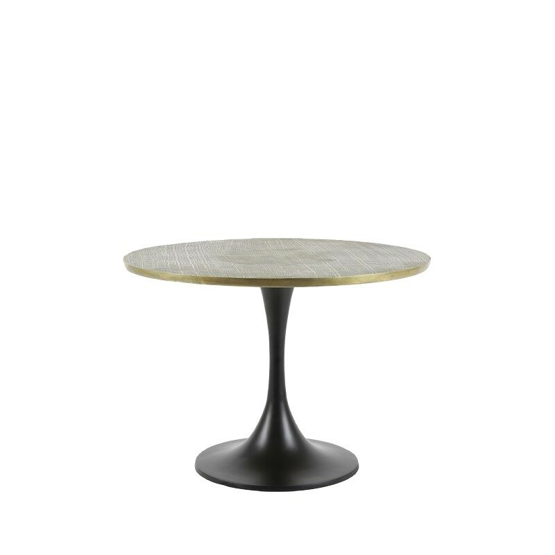 Table basse ronde Rickerd bronze antique grand modèle