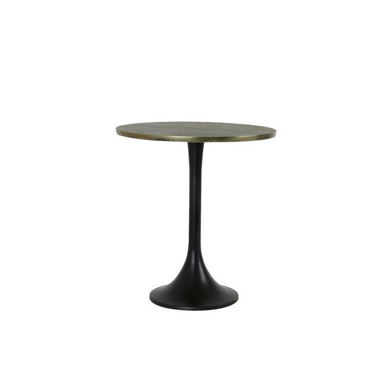 Table basse ronde Rickerd bronze antique petit modèle