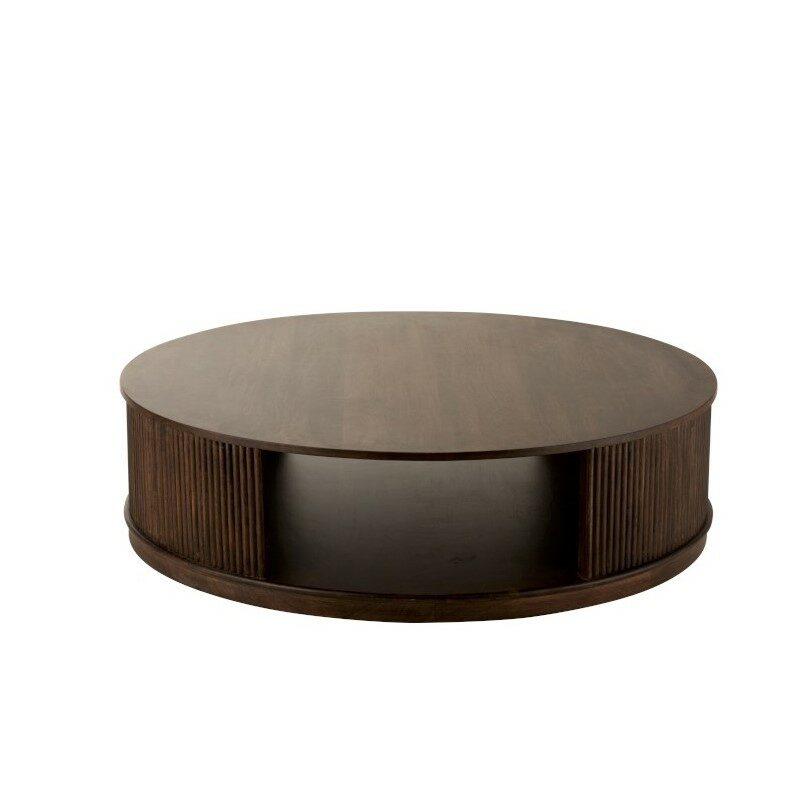 Table basse sur roues Reyi bois de manguier