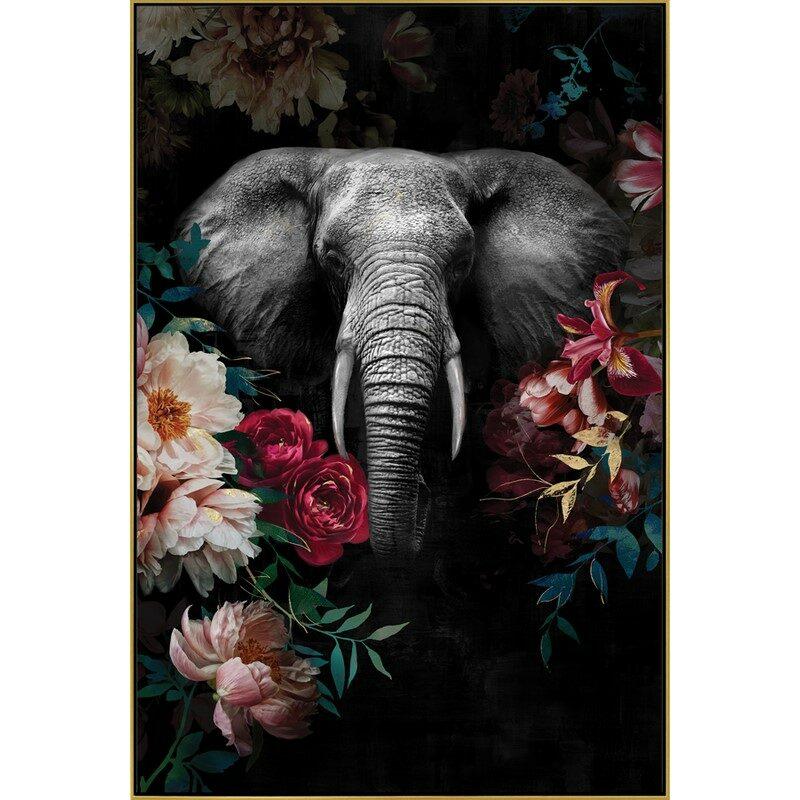 Toile Éléphant 80 x 120 cm