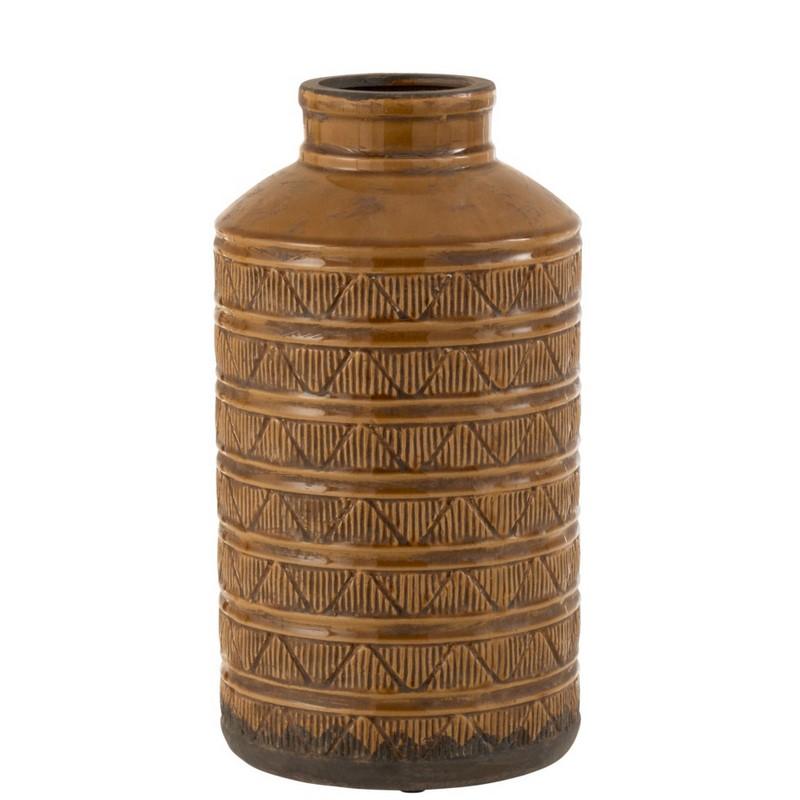 Vase haut Maroc marron