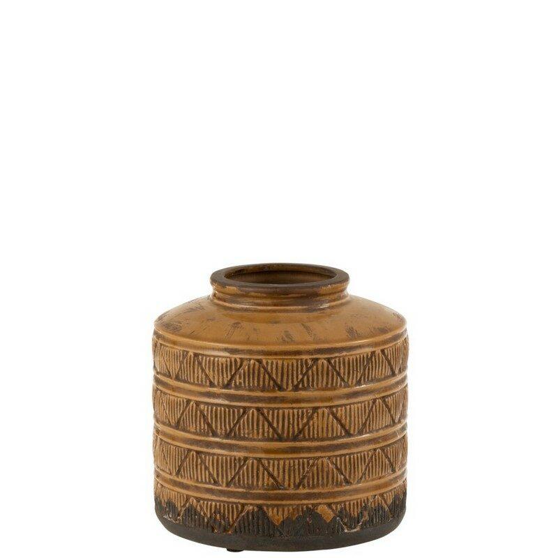 Vase bas Maroc marron