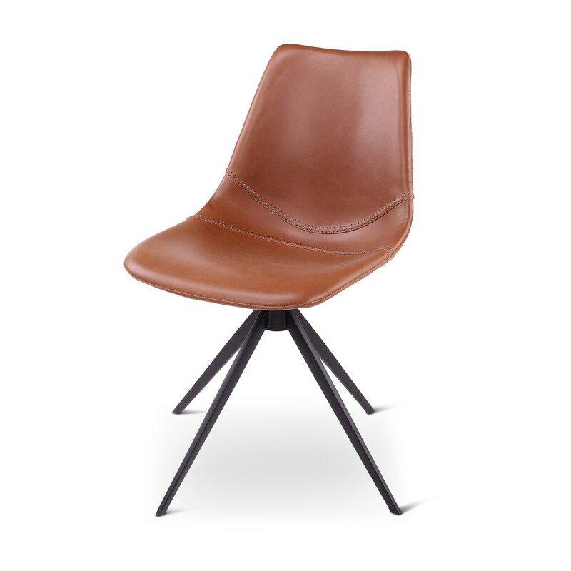 Chaise tournante Omar marron