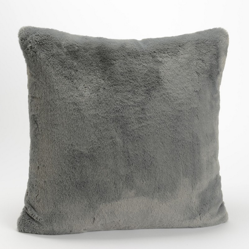 Coussin Luxe gris anthracite 50 x 50 cm