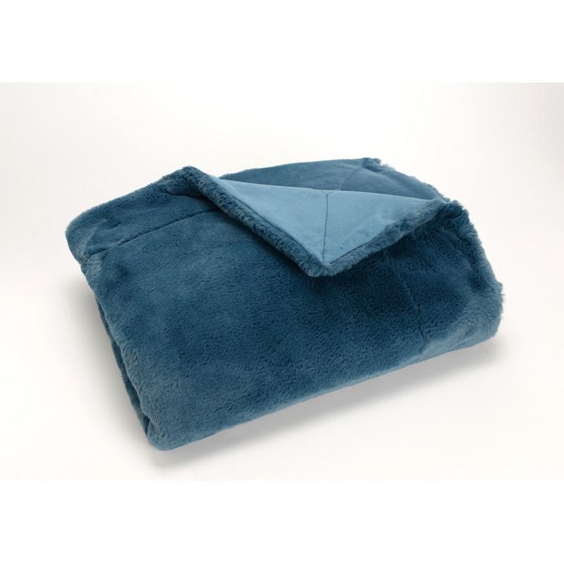 Plaid Luxe bleu nuit 130 x 170 cm