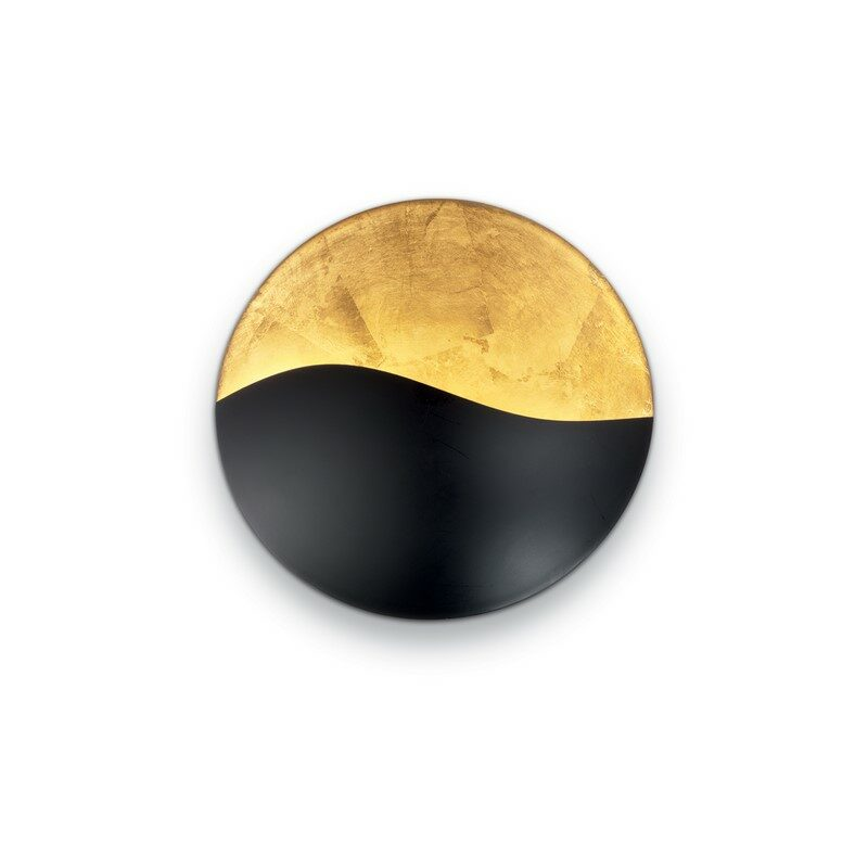 Applique ronde noire et dorée Sunrise 3 lumières