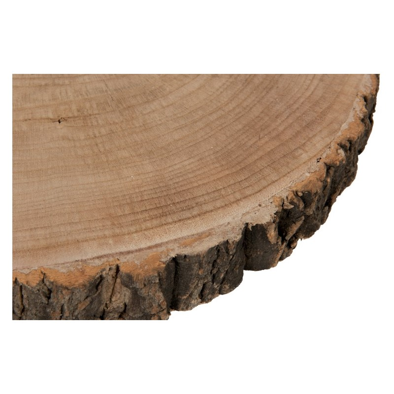 Bout de canapé bois et métal Paulownia
