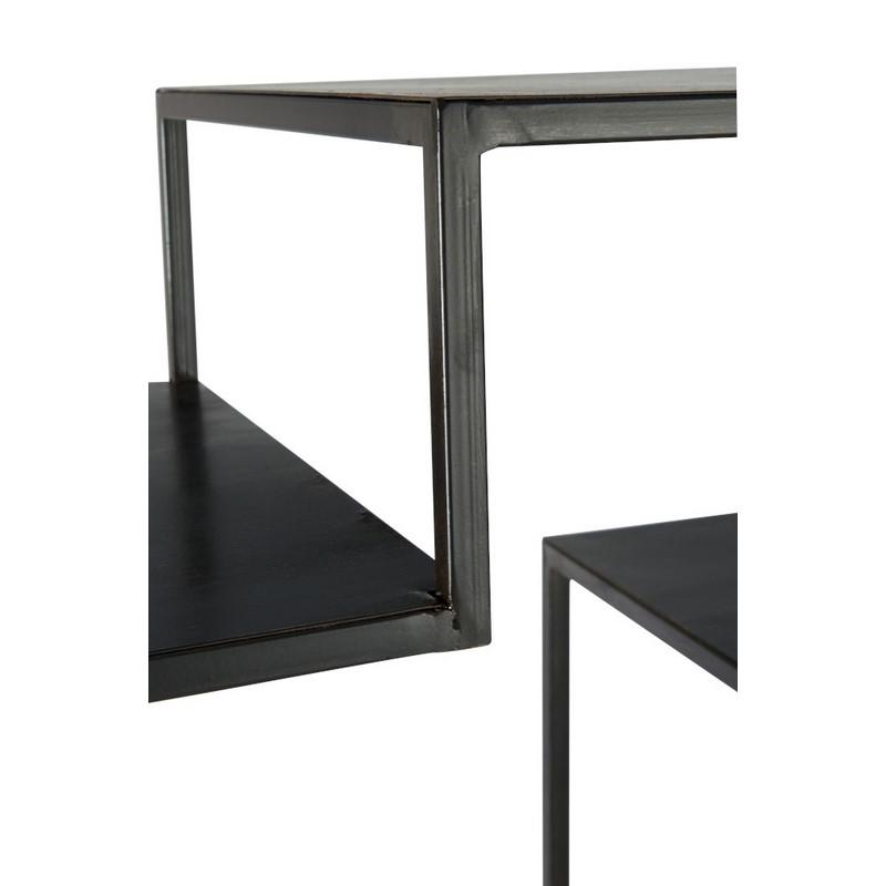 Etagère haute métal noir
