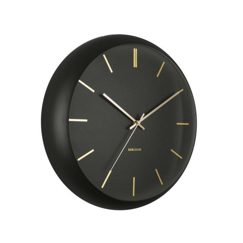 Horloge murale globe noire