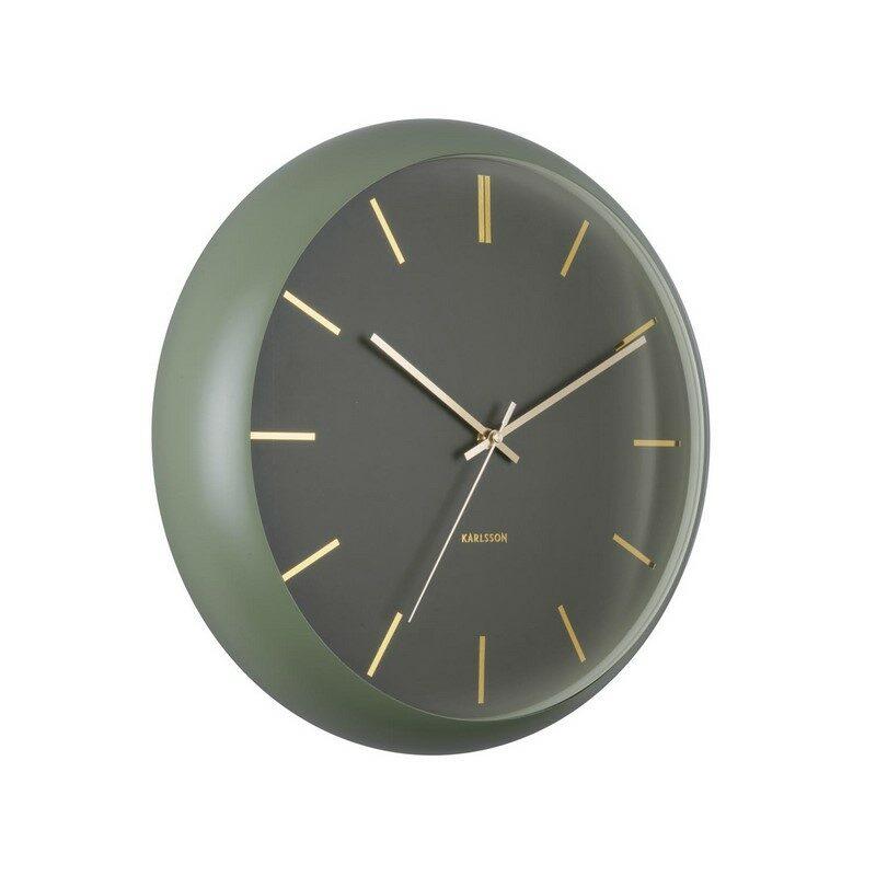 Horloge murale globe vert mousse
