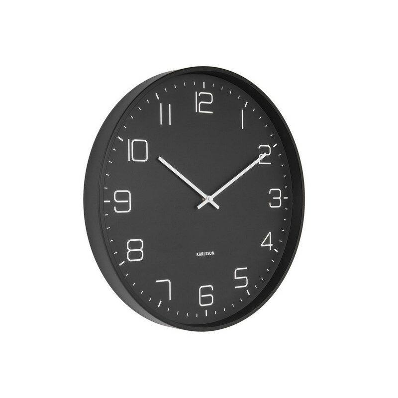 Horloge murale noire mat Lofty