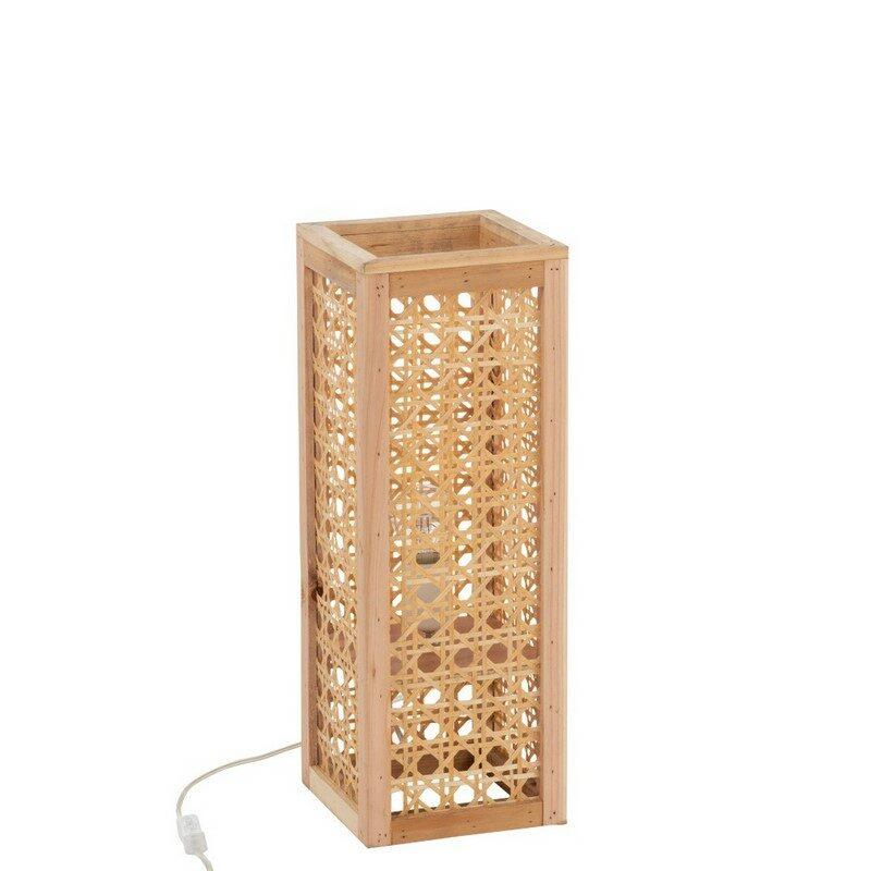 Lampe à poser bambou naturel