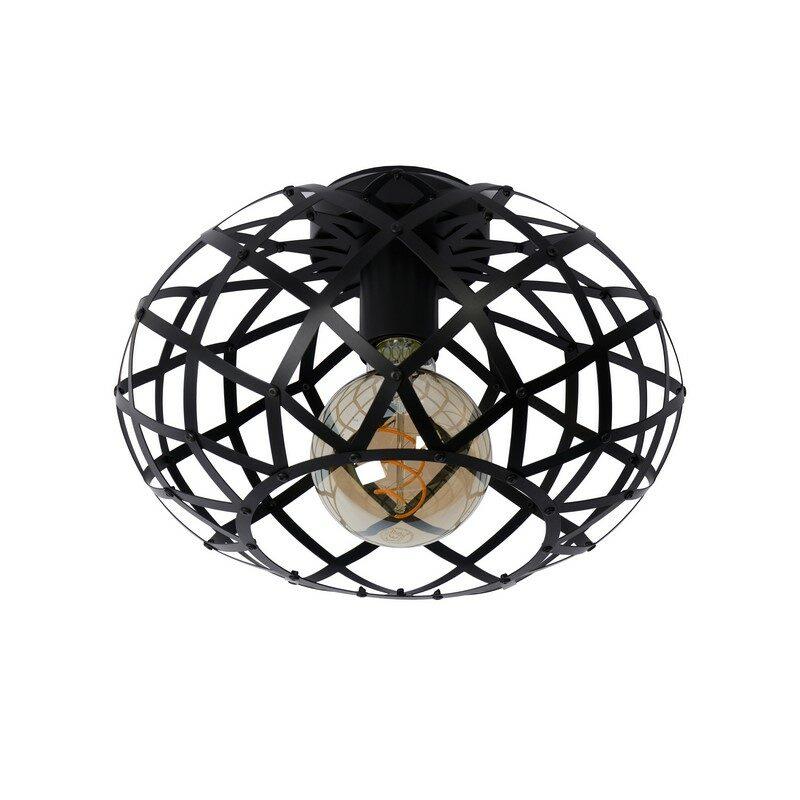 Plafonnier noire Wolfram 30 cm