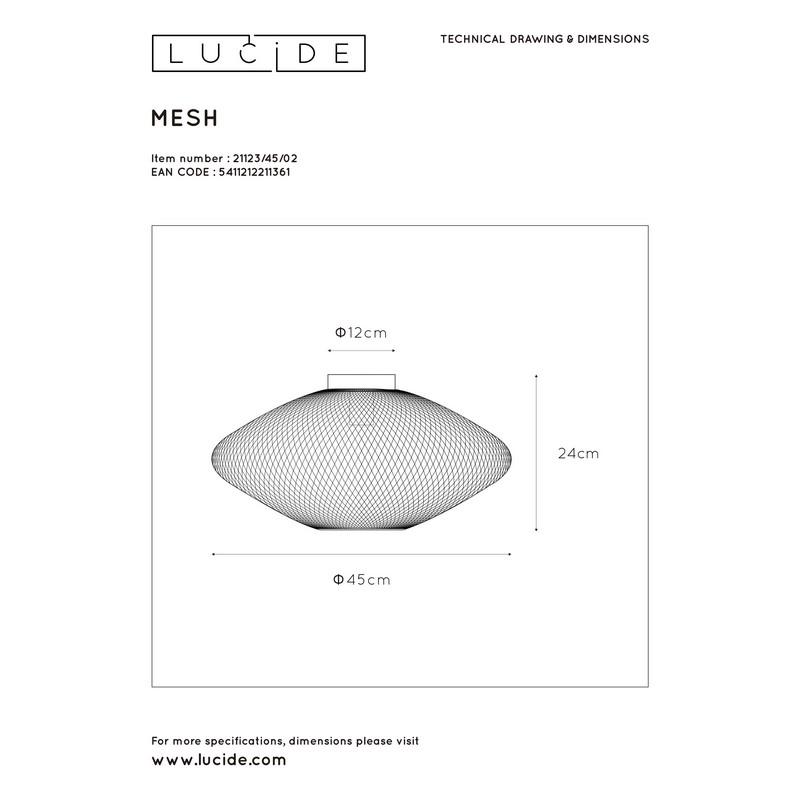 Plafonnier or mat et laiton Mesh 45 cm