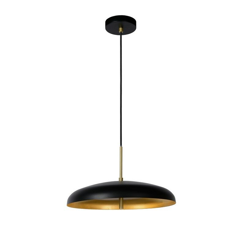 Suspension noire 3 lumières Elgin 38 cm