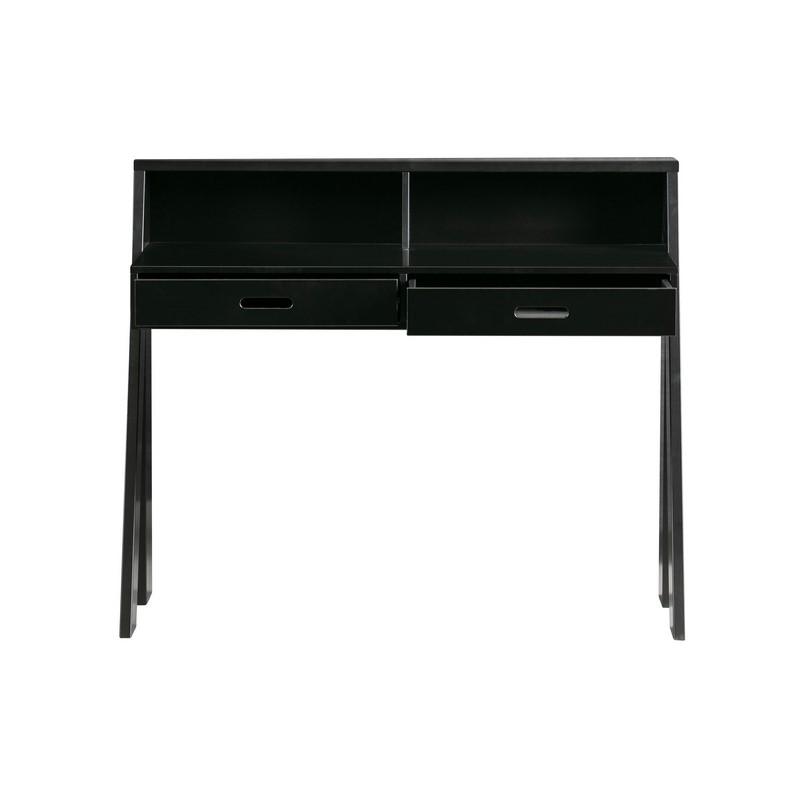 Bureau noir deux tiroirs Connect