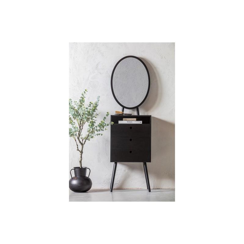 Comme noire avec Miroir Vanity