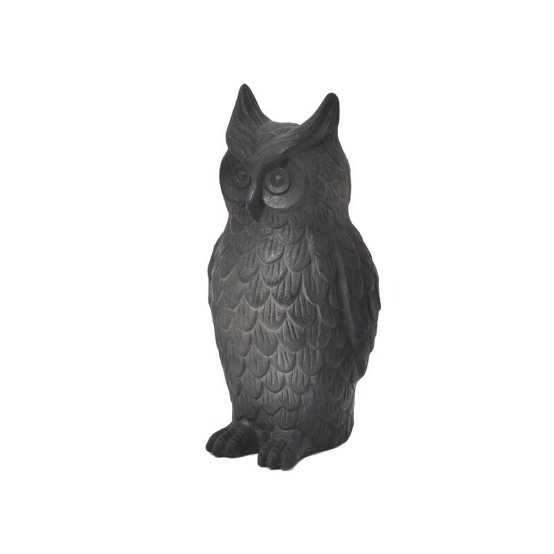 Hibou noir Classy 48 cm