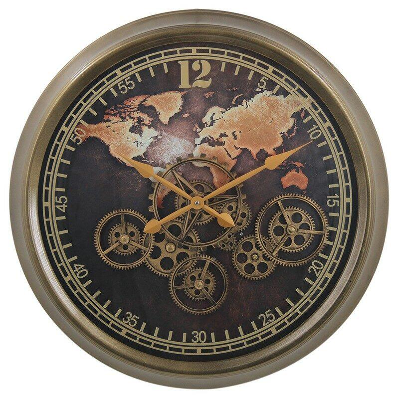 Horloge à engrenages Monde