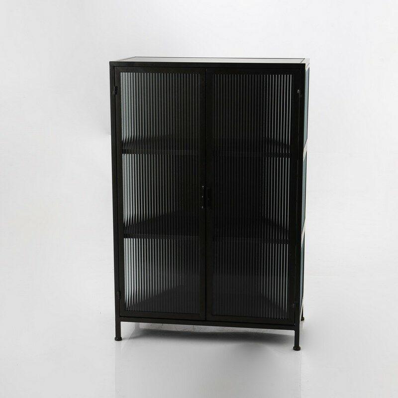 Petit meuble 2 portes noir Sibyllin