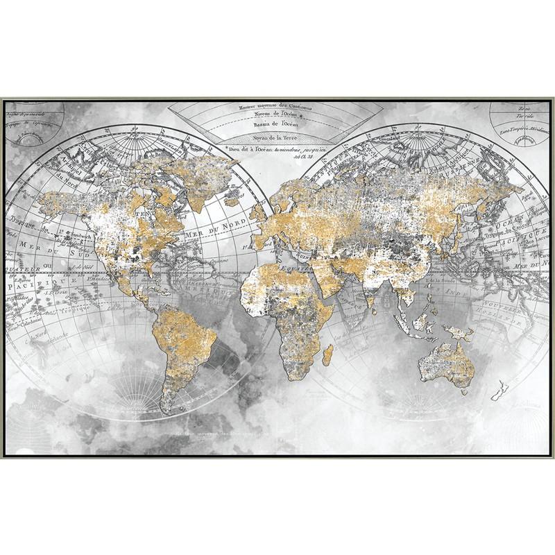 Toile encadrée Monde