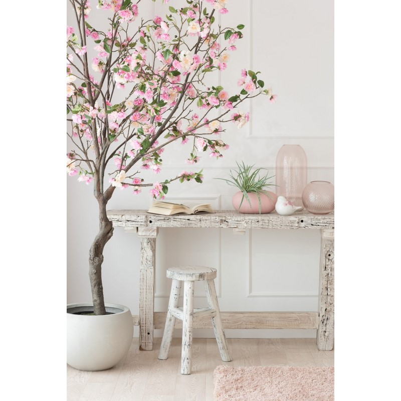 Vase rond haut rose Cannele